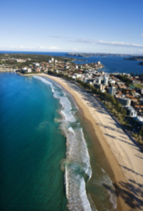 Manly Beach From the Air